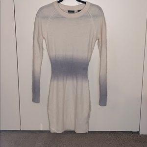 Moda Int'l creme/gray ombré angora sweater dress